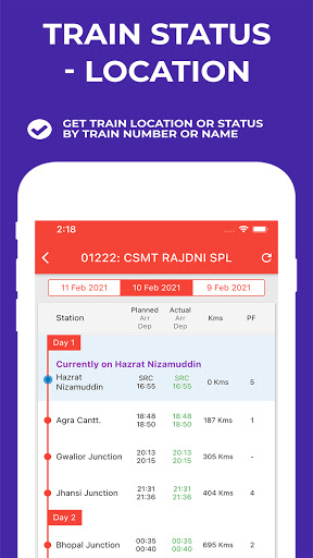 Indian Railway Timetable - Live train location android2mod screenshots 2