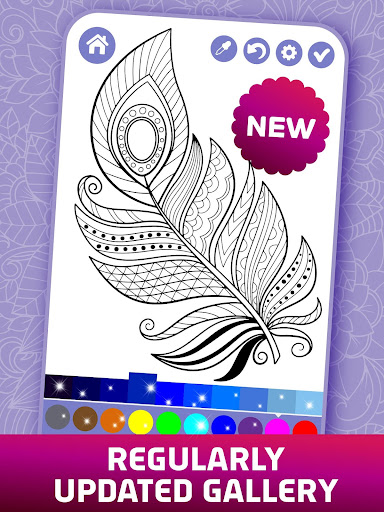 Relaxing Adult Coloring Book 2.9 screenshots 9