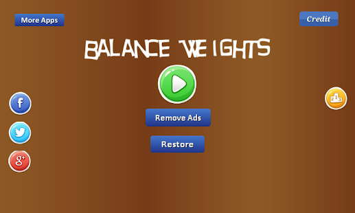 Balance Weights - arms balance Screenshot