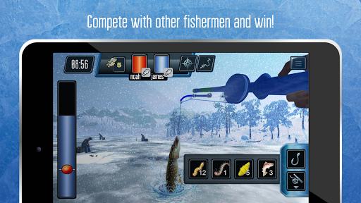 Ice fishing games for free. Fisherman simulator.  screenshots 3
