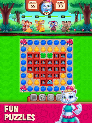 Cat Heroes - Color Match Puzzle Adventure Cat Game  screenshots 9