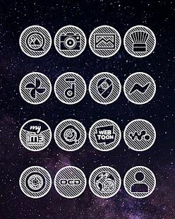 Lines Circle - White Icon Pack - Screenshot 8
