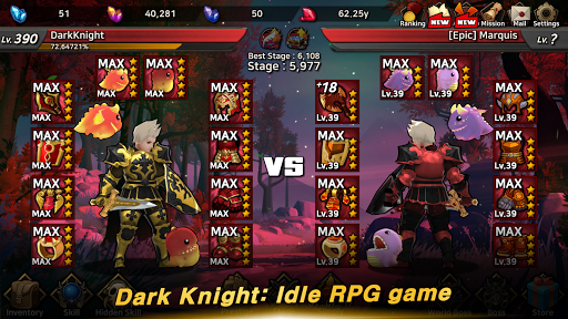 Dark Knight : Idle RPG game  screenshots 2