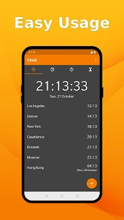 Simple Clock - Alarm, Stopwatch, Timer, No Ads Screenshot