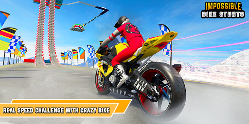 Impossible Bike Stunts 3D - Bike Racing Stunt modiapk screenshots 1