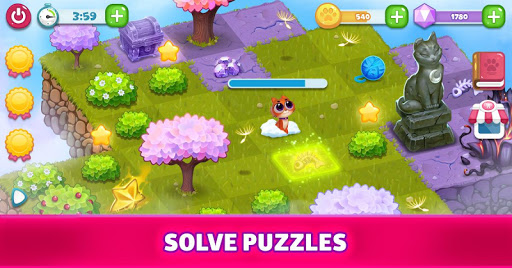 Merge Cats : Land of Adventures apkpoly screenshots 5
