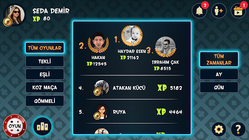 Batak Online - Tekli, Eu015fli, Gu00f6mmeli Batak 2.14.0 screenshots 6