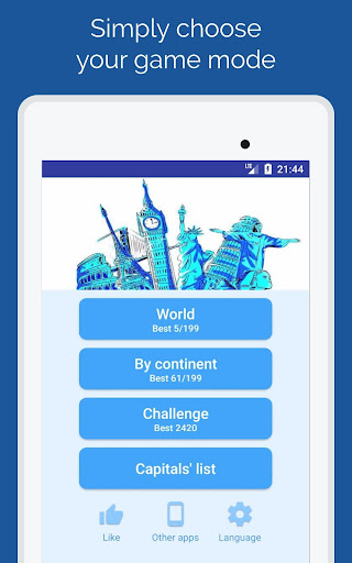 Capitals of the countries - Quiz  screenshots 8