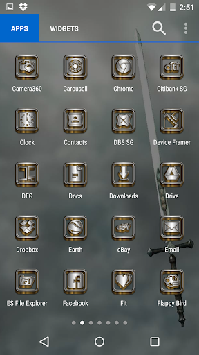 SilverGold 3D Icon CM&Launcher For PC Windows (7, 8, 10, 10X) & Mac Computer Image Number- 10