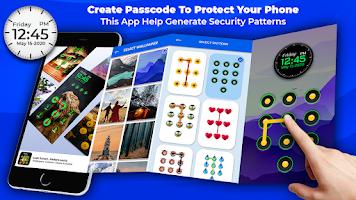 Pattern Lock Screen : Gesture lock Screen App