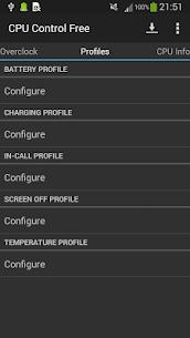 CPU Control Free 3.1.6 Apk 5