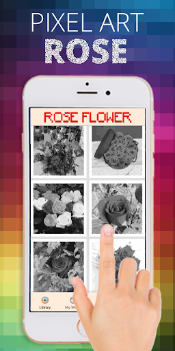 Rose Flower Pixel Coloring By Number  screenshots 6