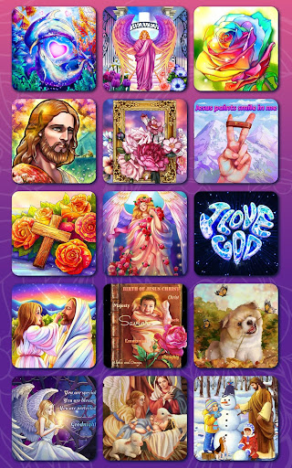 Bible Coloring - Paint by Number, Free Bible Games  screenshots 14