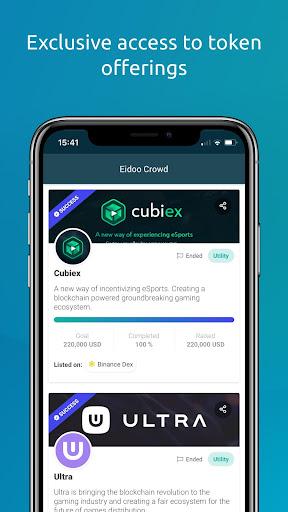 Eidoo: Bitcoin and Ethereum Wallet and Exchange 2.14.0 Screenshots 4