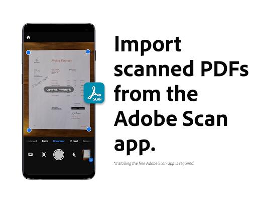 Adobe Acrobat Reader: Edit PDF screen 2