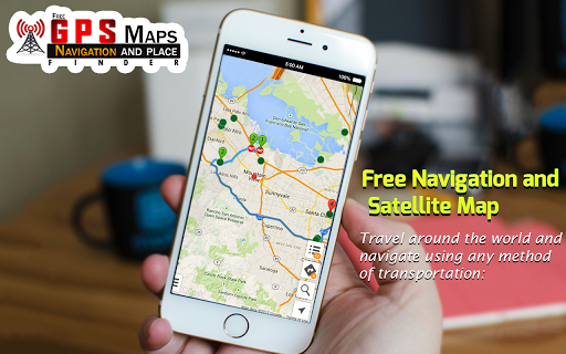Free GPS Maps - Navigation and Place Finder 4.3.1 Screenshots 1