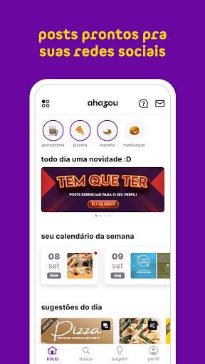 Ahazou - posts prontos para suas redes sociais apktram screenshots 3