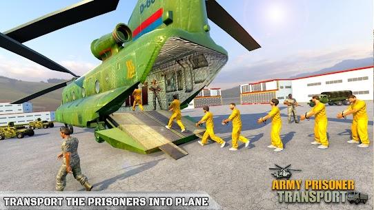Army Prisoner Transport: Truck & Plane Crime Games 9