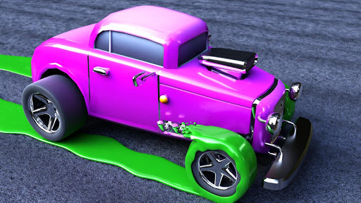 Color Cars - Extreme Flippy World Town Madness 3D  screenshots 1