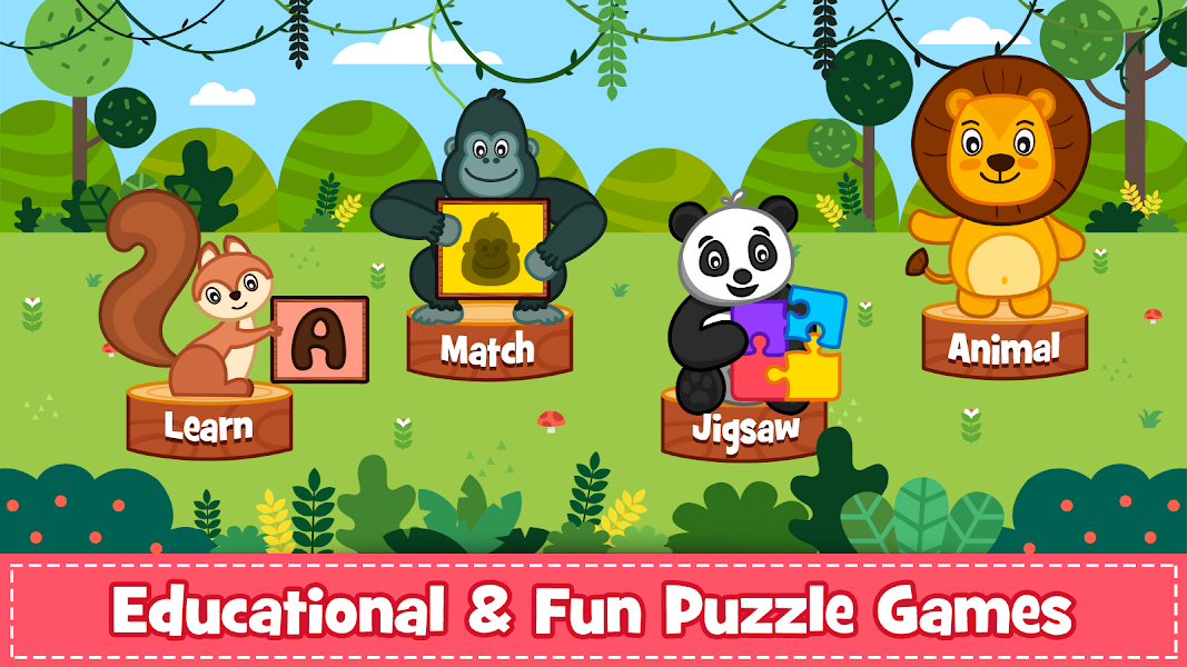 Animal Puzzle for kids - Preschool Learning Games