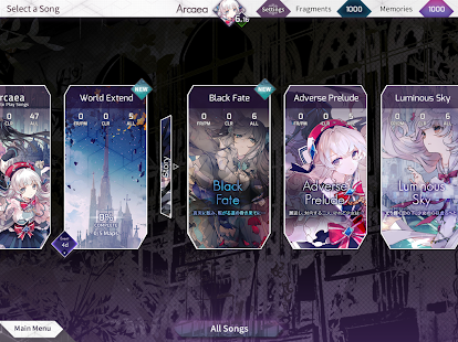 Arcaea - New Dimension Rhythm Game Screenshot