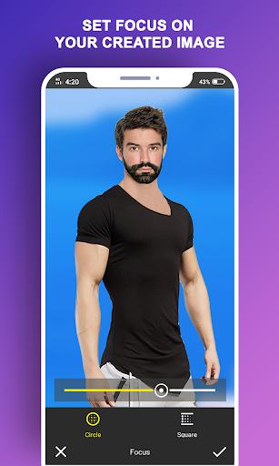 Man T-Shirt Suit Photo Editor modavailable screenshots 6