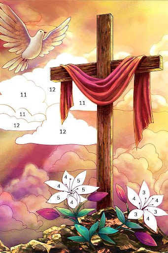 Bible Coloring - Paint by Number, Free Bible Games  screenshots 16