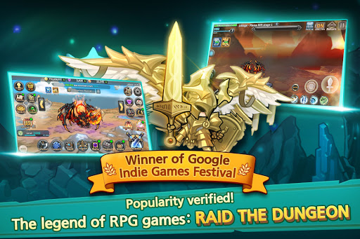 Raid the Dungeon : Idle RPG Heroes AFK or Tap Tap 1.10.2 screenshots 1