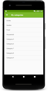 The shopping list - With shared shopping lists