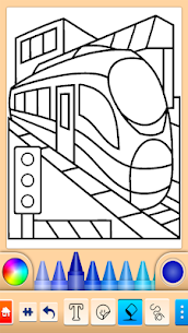 Train game: coloring book for kids 1