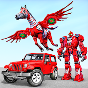 Horse Robot Jeep Games - Transform Robot Car Game