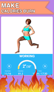 Burn fat workout in 30 days. HIIT training at home
