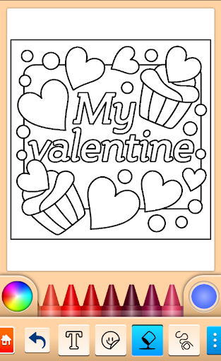 Valentines love coloring book  screenshots 4