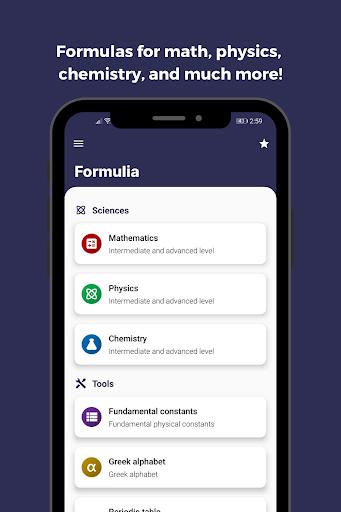 Formulia screenshots 1
