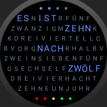 Word Clock Watch Face screenshot 9