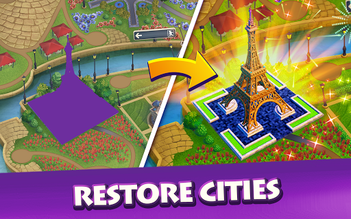 Gummy Drop! Match to restore and build cities  screenshots 7