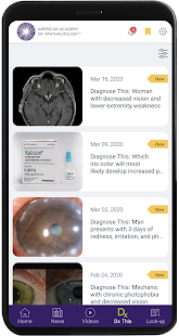 AAO Ophthalmic Education Screenshot