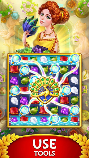 Jewels of Rome: Gems and Jewels Match-3 Puzzle apktreat screenshots 2
