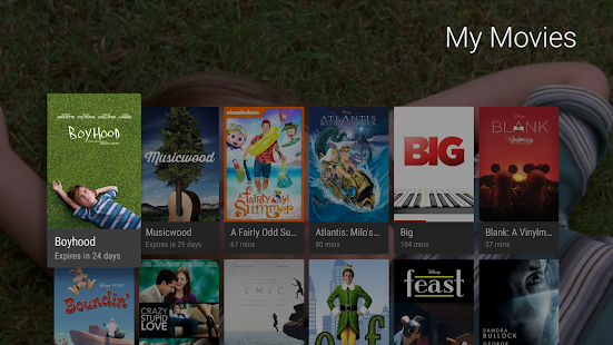 Google TV (previously Play Movies & TV) Screenshot