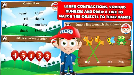 first grade games: trucks screenshot 3