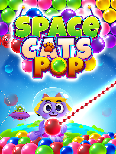 Space Cats Pop - Kitty Bubble Pop Games apkmr screenshots 10