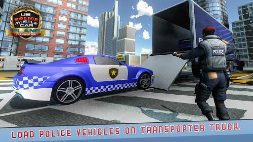 US Police Muscle Car Cargo Plane Flight Simulator 4.7 screenshots 21