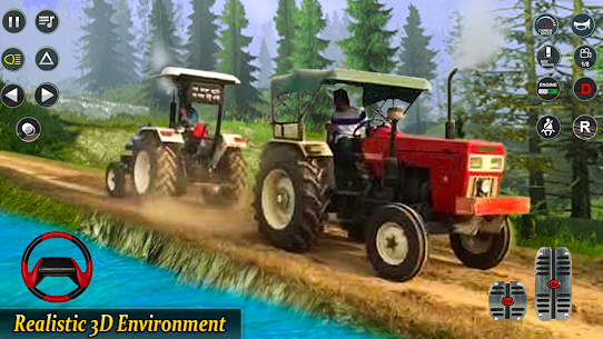 Real Tractor Pulling Simulator  Offroad | City Mod Apk Download 5