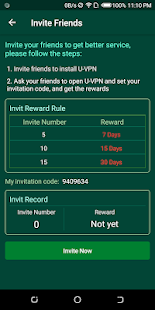 U-VPN (Free Unlimited & Very Fast & Secure VPN) Screenshot