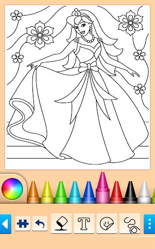 Princess Coloring Game 15.3.8 Screenshots 4