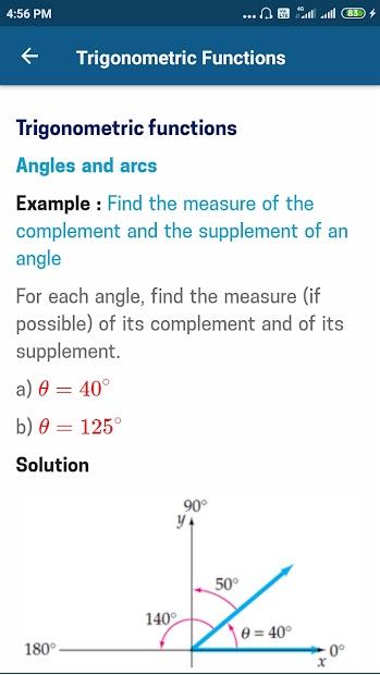Captura de Pantalla 6 de Trigonometry Mathematics para android