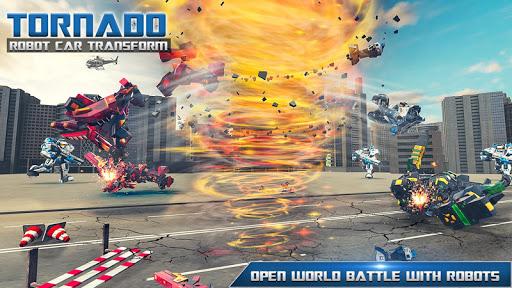 Tornado Robot Car Transform: Hurricane Robot Games 1.0.5 Screenshots 12