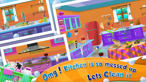 Girl House Cleaning: Messy Home Cleanup screenshots 1