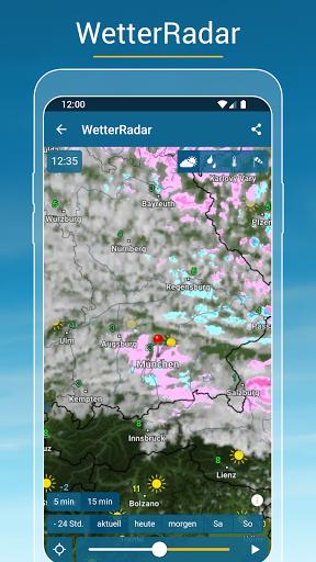 RegenRadar - mit Unwetterwarnung apktram screenshots 3