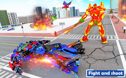 Flying Dragon Transport Truck Transform Robot Game  screenshots 7